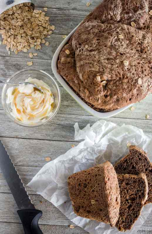 Make the popular Outback Steakhouse bread with this copycat recipe requiring no fancy equipment or restaurant trip. Soft, chewy, with a crisp crust and dark brown color without any funky ingredients!