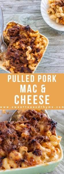 Bring this pulled pork mac and cheese to your next potluck or cookout! Rich and creamy mac and cheese with that summer superstar -pulled pork- make for a match made in heaven any time of the year!