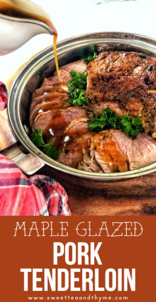 This easy maple glazed pork tenderloin is easy and quick enough to be a weeknight meal. yet special enough to be on your Thanksgiving or Christmas table.