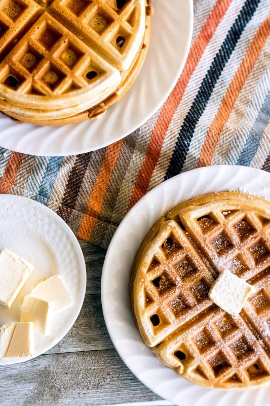 Crisp on the outside, fluffy on the inside, Belgian Waffles are such a delicious way to start your day!