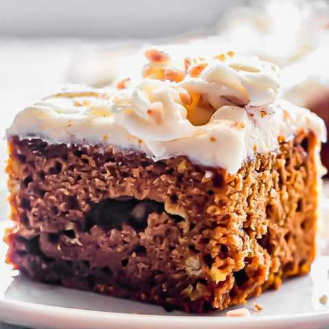 Pumpkin Sheet Cake with Fluffy Cream Cheese Frosting