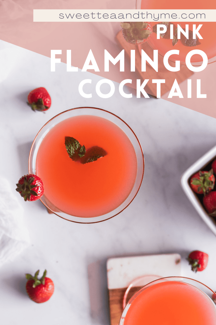 pin for pinterest for the pink flamingo cocktail