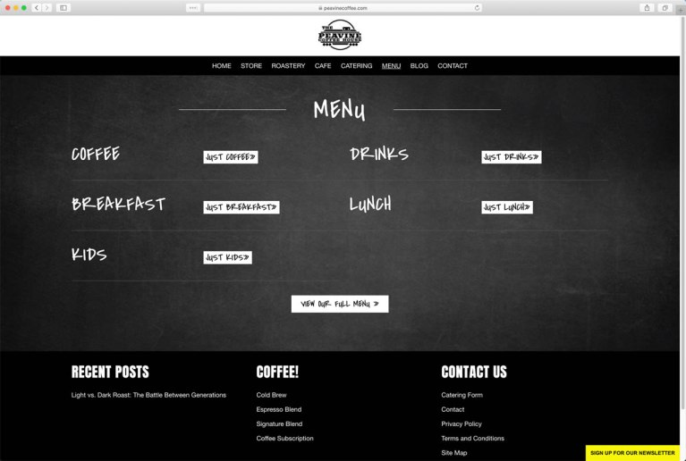 Peavine Coffee Shop Menu (located in Prescott Valley, Arizona)Categories