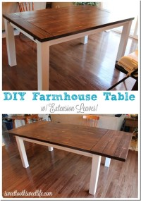 DIY Farmhouse Table with Extension Leaves (with Plans ...