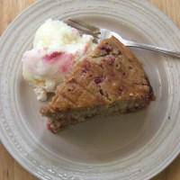 Raspberry and Cardamom Cake with Honey Syrup