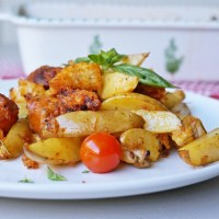 Giovanni's Sausages with Potatoes & Rosemary