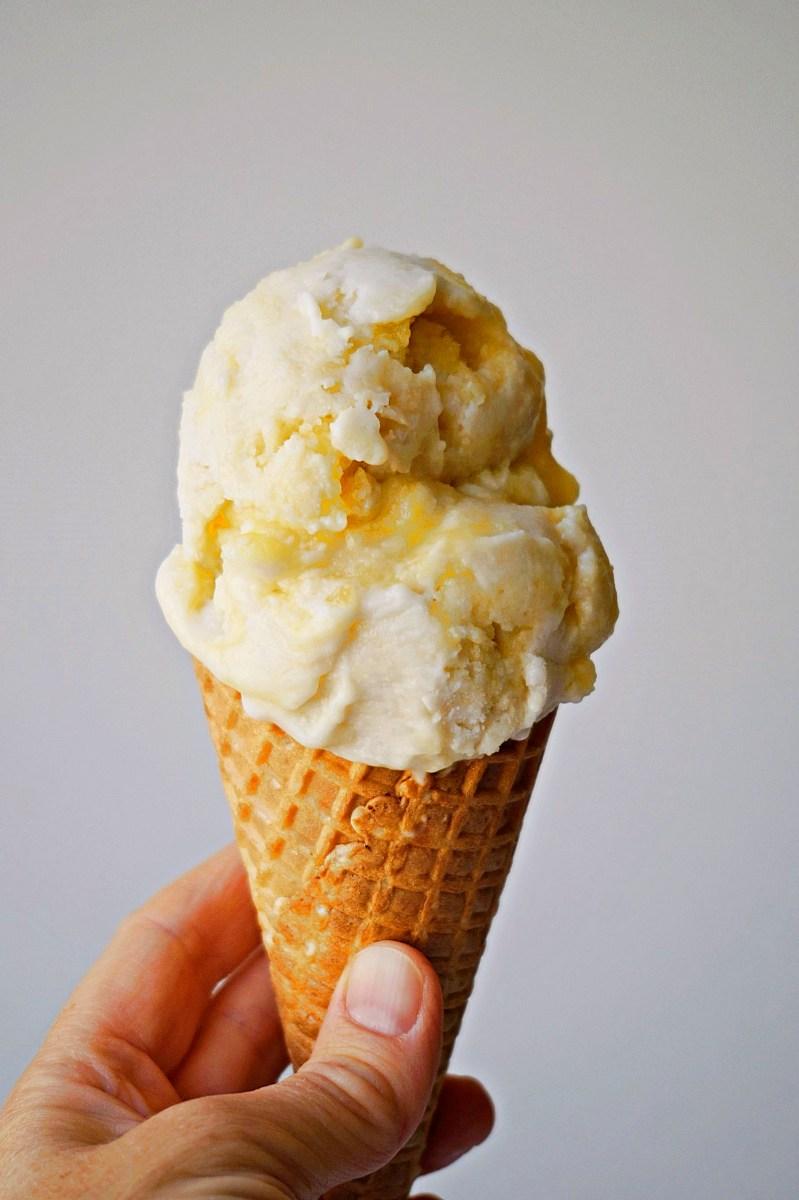 Lemon Curd Frozen Yoghurt {vegan, GF}