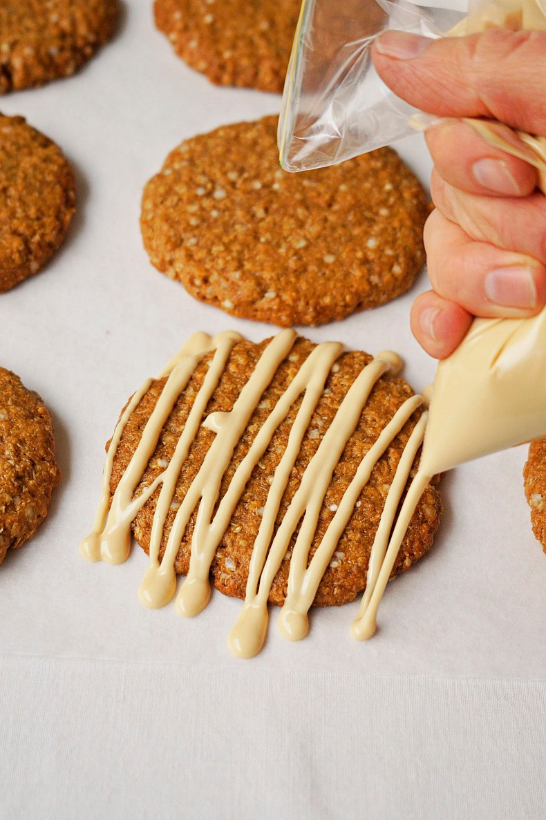 Hippy Anzac Biscuits {vegan, GF}