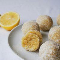 Lemon, Cardamom & Coconut Truffles {vegan, GF}