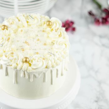 Elegant White/ Gold Taart