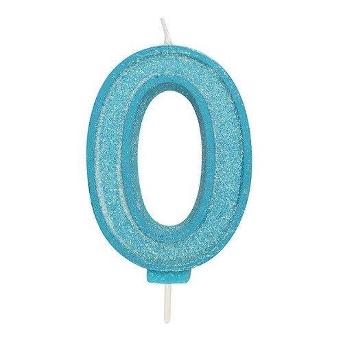 Cijferkaars Glitter blauw - 0