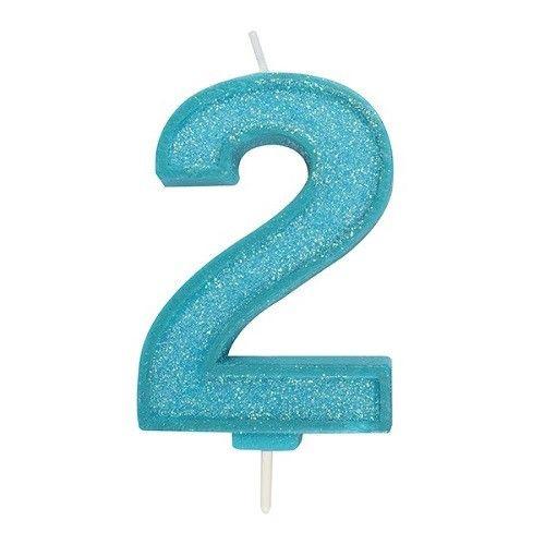 Cijferkaars Glitter blauw - 2