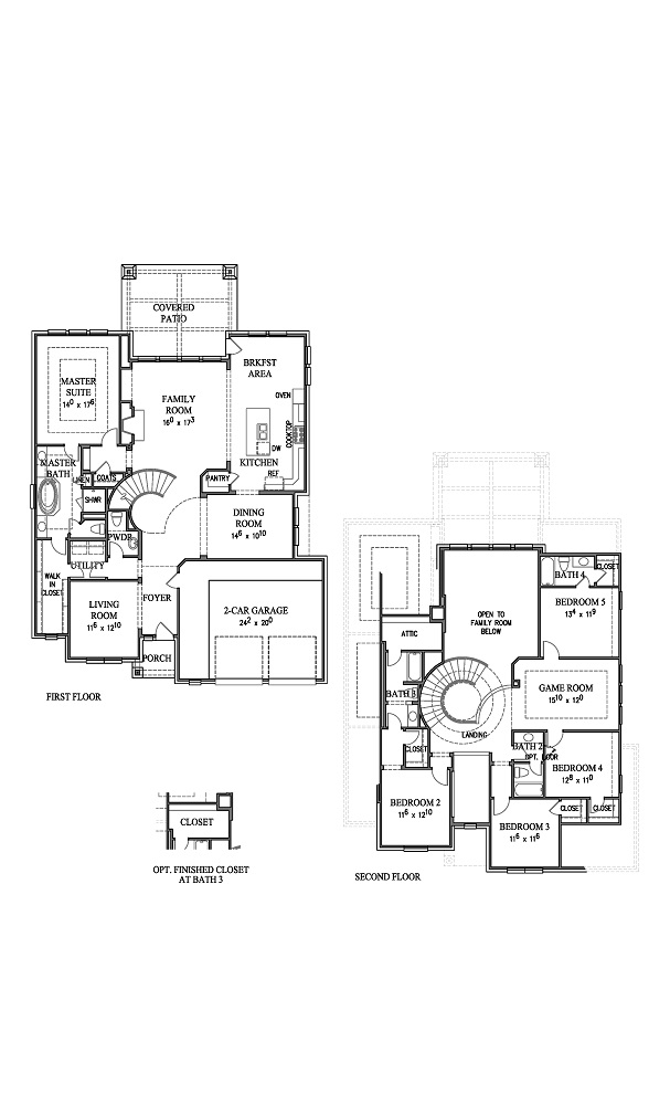 Preston V New Home Plan by Westin Homes in Sweetwater