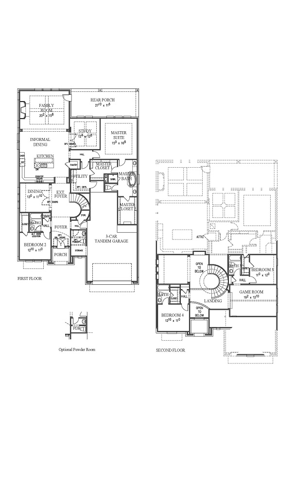 Barcelona New Home Plan by Westin Homes in Sweetwater