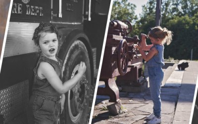 Tesla Rosie the Riveter | Child Photography