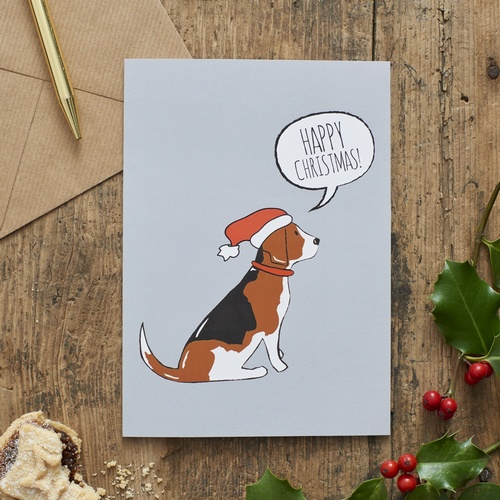 Beagle Christmas Card 275 Mischievous Mutts Greeting