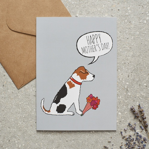 Jack Russell Mother's Day Card £2 75 Mischievous Mutts
