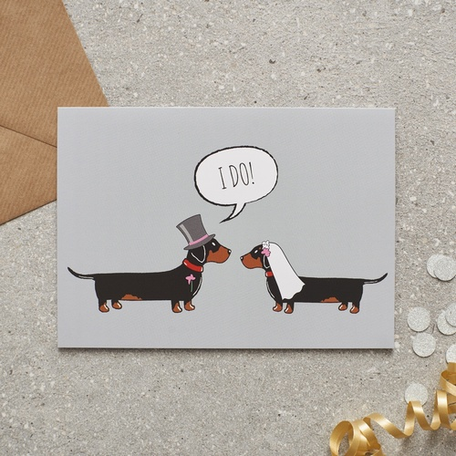 Dachshund Sausage Dog Wedding Card £2 75 Mischievous