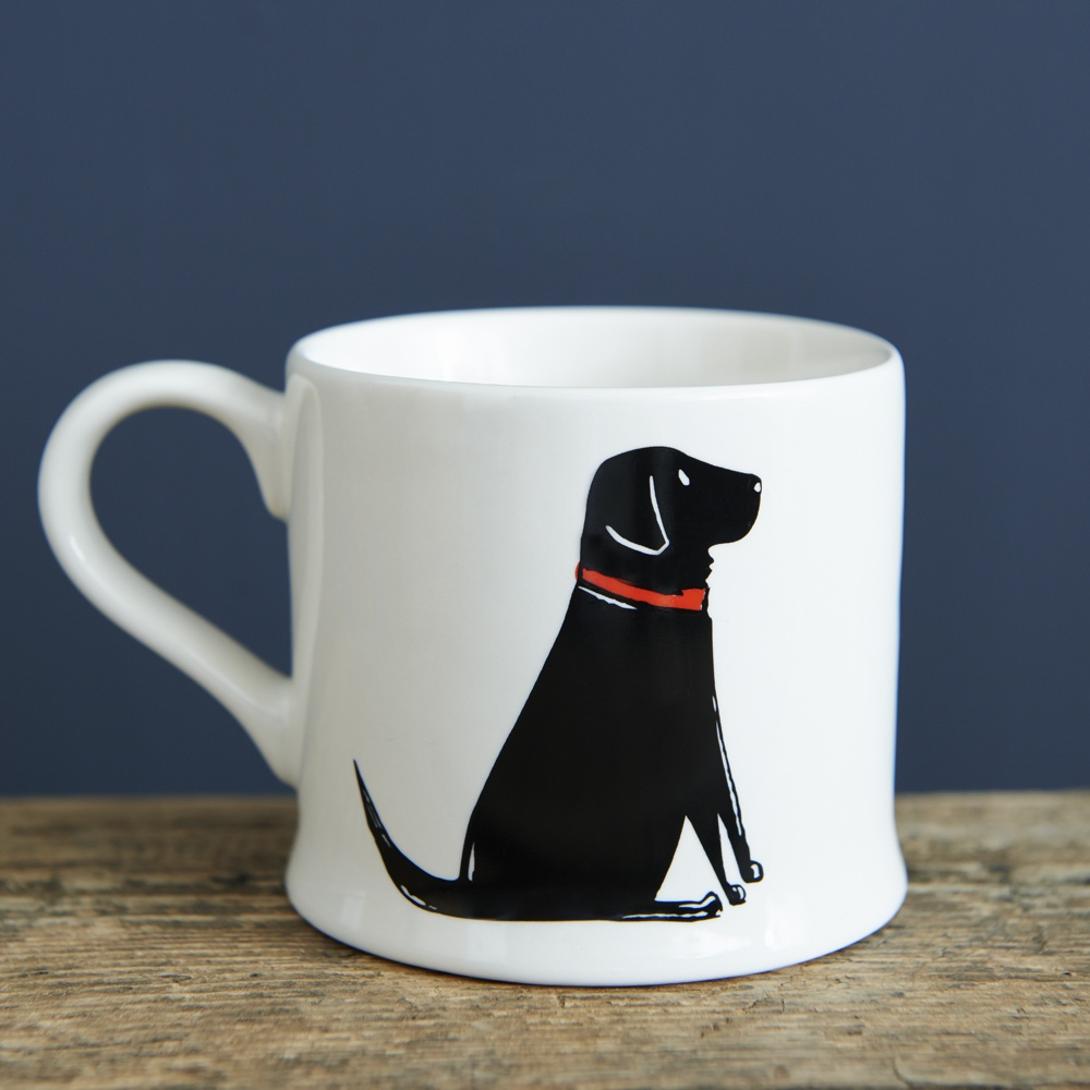 Single Black Labrador Mug 163 15 95 Mischievous Mutts