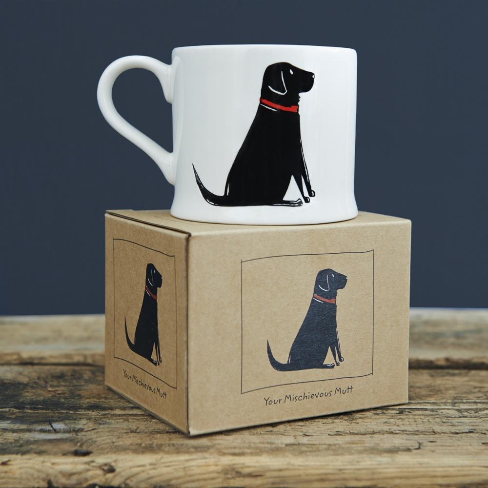 Single Black Labrador Mug 163 15 95 Mischievous Mutts