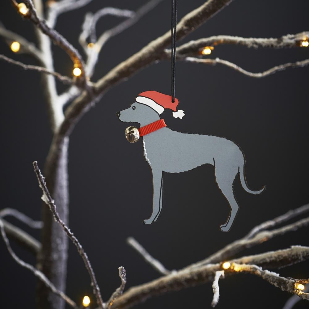 Lurcher Dog Christmas Tree Decoration 395 Mischievous