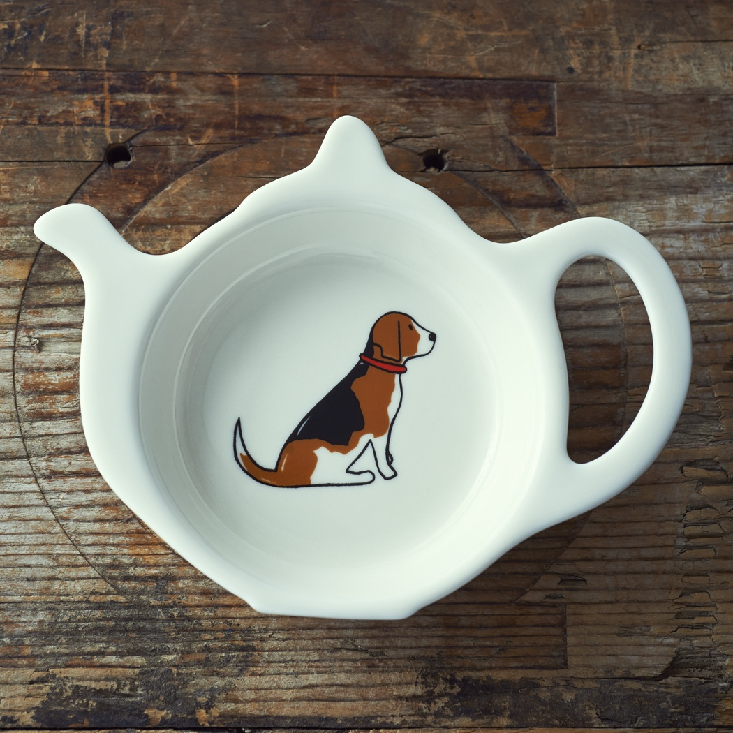 Beagle Teabag Dish 163 9 50 Mischievous Mutts Teabag