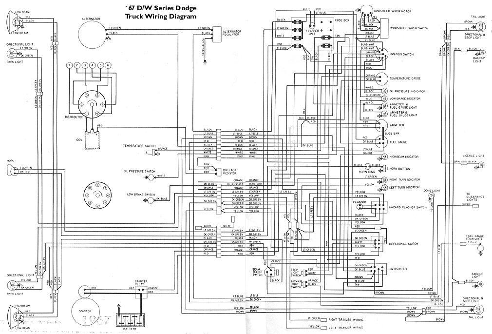 1973 dodge d100 wiring diagram