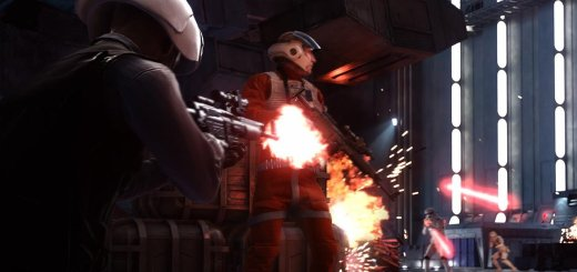 Fighting in the hanger of the Death Star in Battlefront.