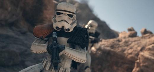 A stormtrooper on Tatooine.