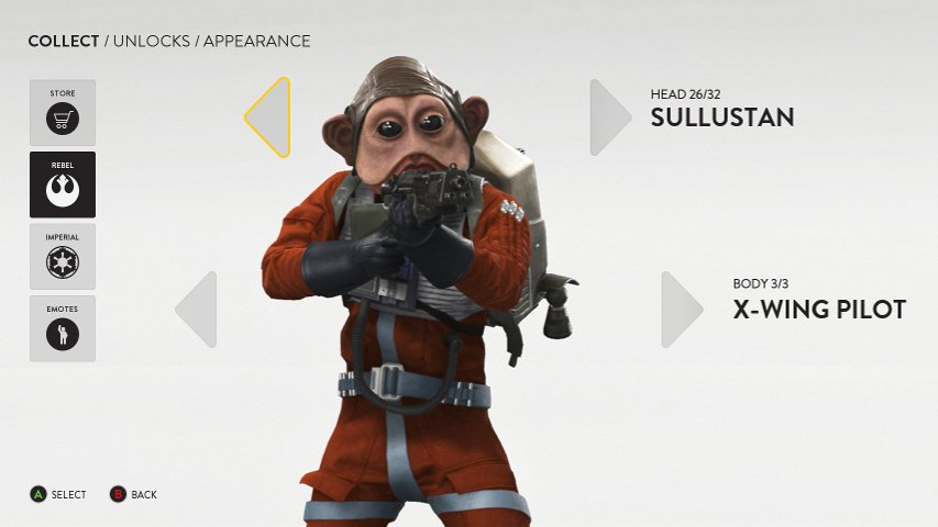 Example of new customization screen in Battlefront.