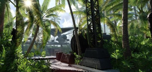Screenshot of a map on Scarif in Battlefront.