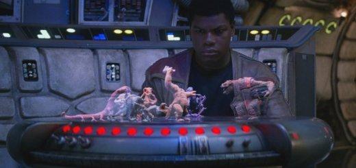 Finn looking at a dejarik board in The Force Awakens.