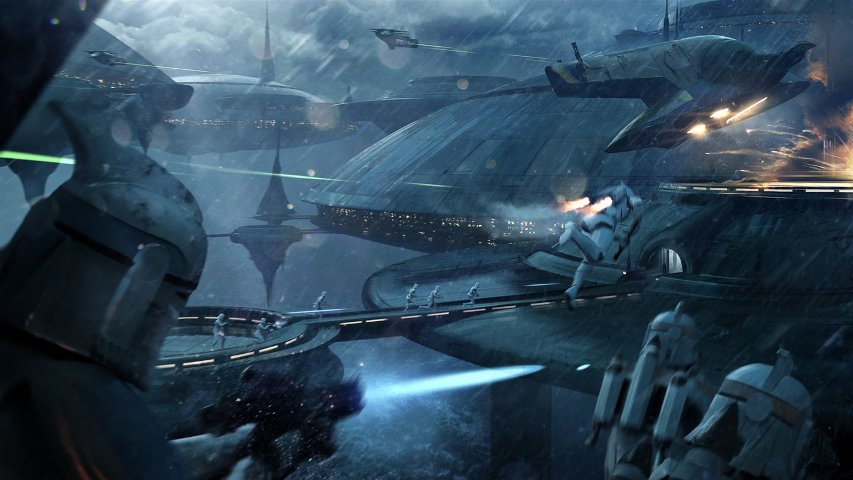 Kamino concept art for Battlefront II.