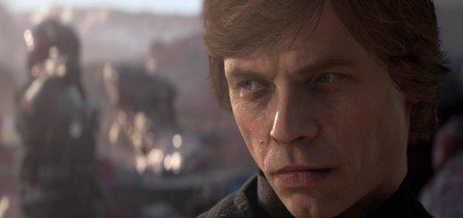 Luke Skywalker in the Battlefront II trailer.