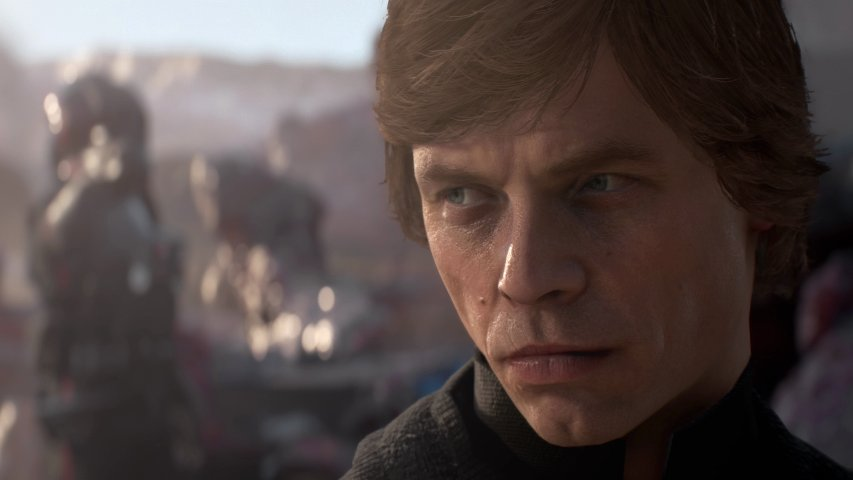 Luke Skywalker in the Battlefront II trailer.
