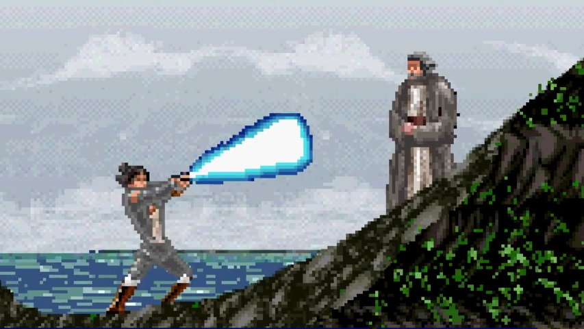 8-bit version of The Last Jedi trailer.
