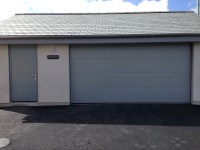 Hormann Large Ribbed Silk Grain Garage Door with matching ...