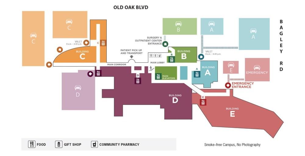 medium resolution of hospital map