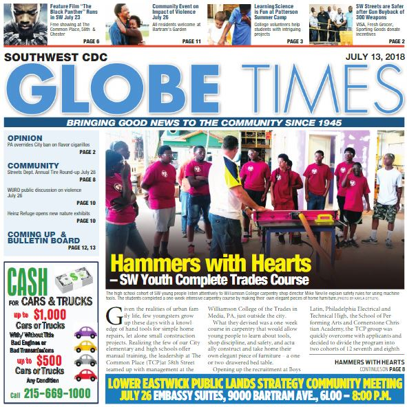 Globe Times July 13, 2018 issue