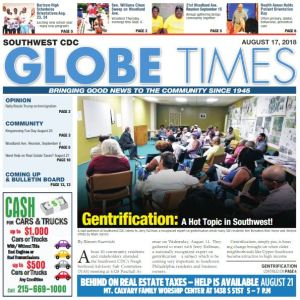 Globe Times August 17, 2018 issue