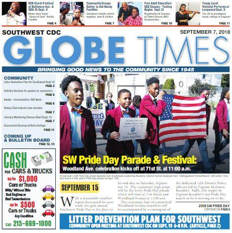 Globe Times September 7, 2018 issue
