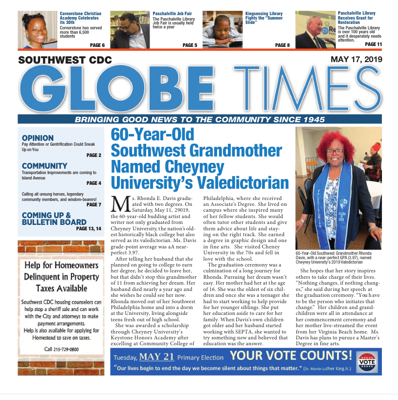Globe Times May 17, 2019 issue