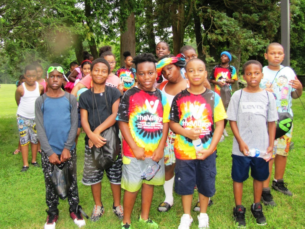 Out-of-School Time (OST) programs energize and enrich the lives of our school age children. Here, Southwest youngsters are fresh from a carefree swimming outing on The Village suburban campus in Rosemont PA. TheVillage OST programs at Bryant, Tilden, and Catharine schools will be supported by major grants from the City's Dept. of Human Services during the coming school year.