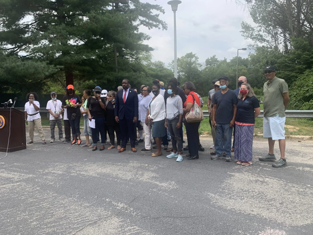 Councilman Johnson joins Eastwick Residents for a call to action.