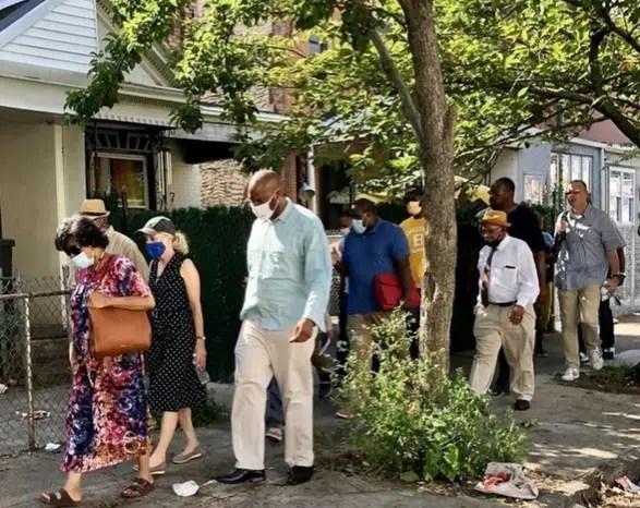 Congresswoman Scanlon and former City Councilwoman Jannie blackwell lead walking tour of Southwest Philadelphia