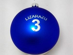 bombka reklamowa z logo lizarazu, kolor niebieski