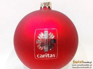 bombki z logo caritas grawer