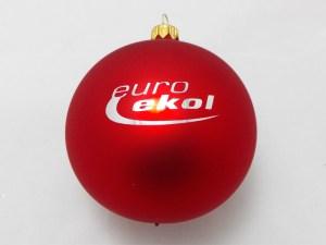 Christmas ball euro ekol, red