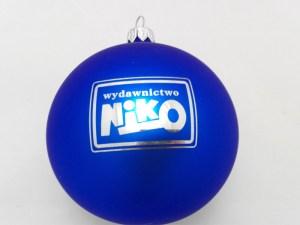 Christmas ball with logo niko, blue