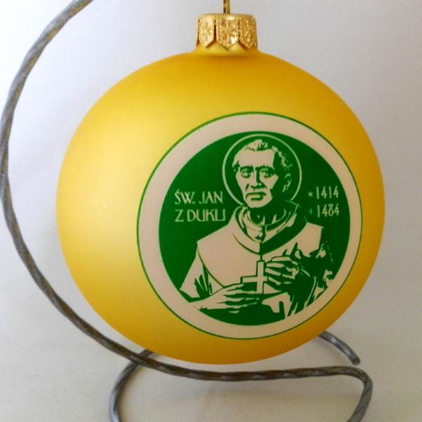 balls with logo św Jan z Dukli, with stand